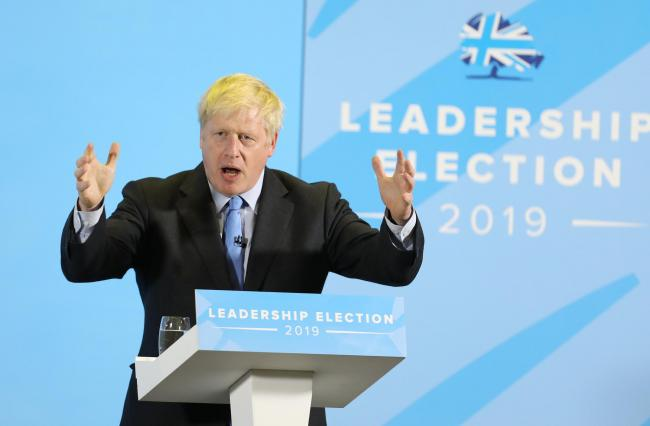 Hustings at Five Lakes..Boris Johnson..