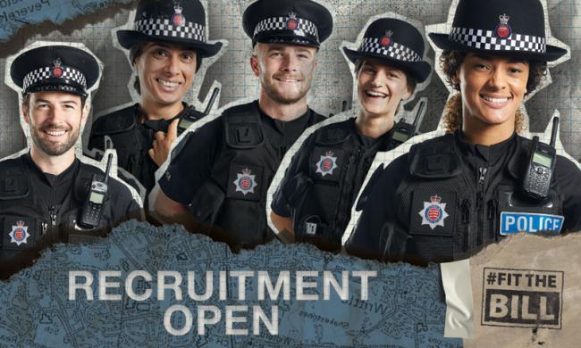Major recruitment campaign to boost police numbers across Essex