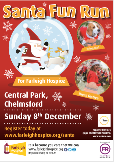 Santa Fun Run for Farleigh Hospice