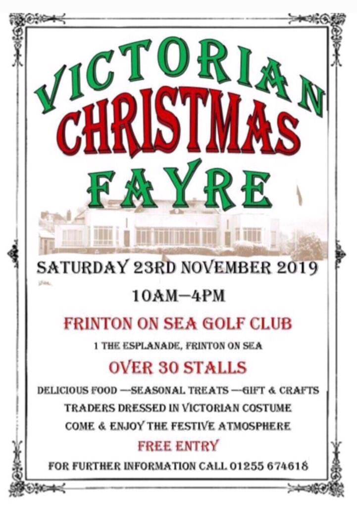 Victorian Christmas fayre Frinton on sea
