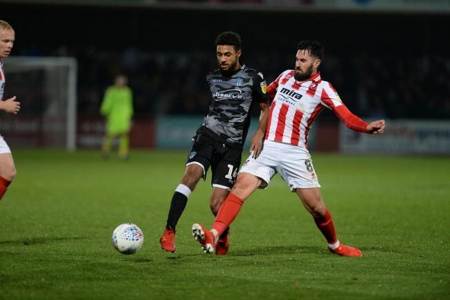 Regular - Brandon Comley in possession for Colchester United at Cheltenham Town Picture: PAGEPIX