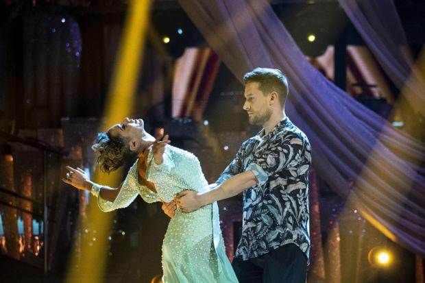 Chris Ramsey with Karen Hauer on Strictly