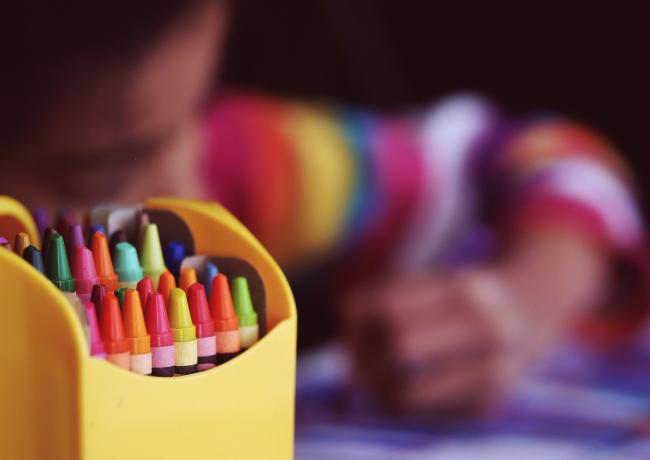 school crayons general picture