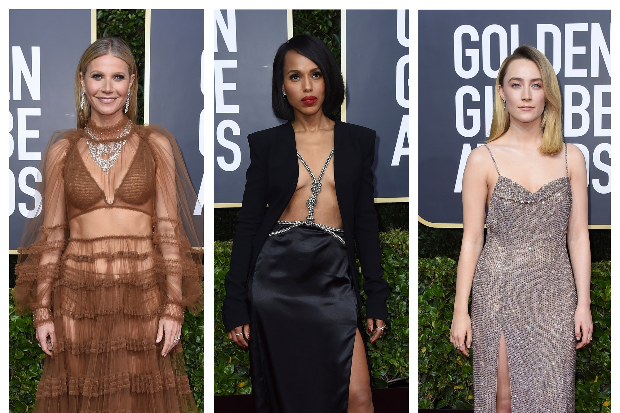 flesh on Golden Globes red carpet