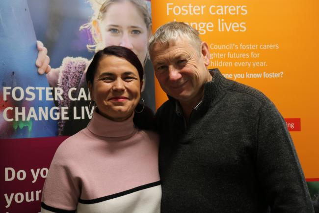 Foster carers: Maria and Phil Ledgerton