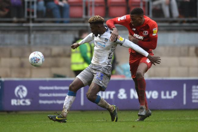 Theo Robinson of Colchester United does battle with Marvin Ekpiteta of Leyton Orient - Leyton Orient vs. Colchester United - Sky Bet League Two - Brisbane Road, Leyton - 26/12/2019 - Photo by: Richard Blaxall.