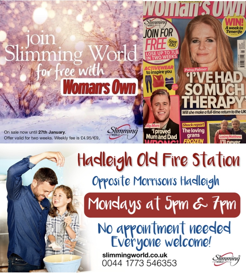 Free Slimming World Membership Hadleigh Old Fire Station