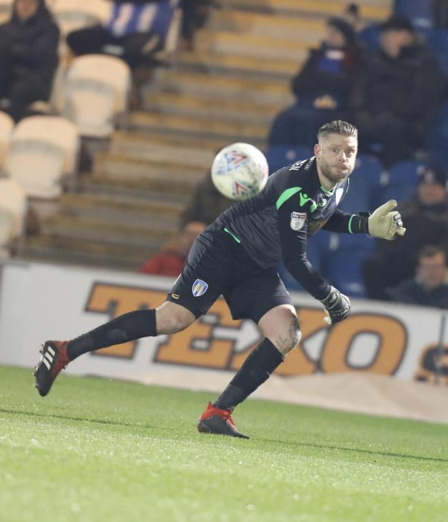 Safe hands - Colchester United goalkeeper Dean Gerken made his 300th league career appearance against Bradford City Picture: STEVE BRADING