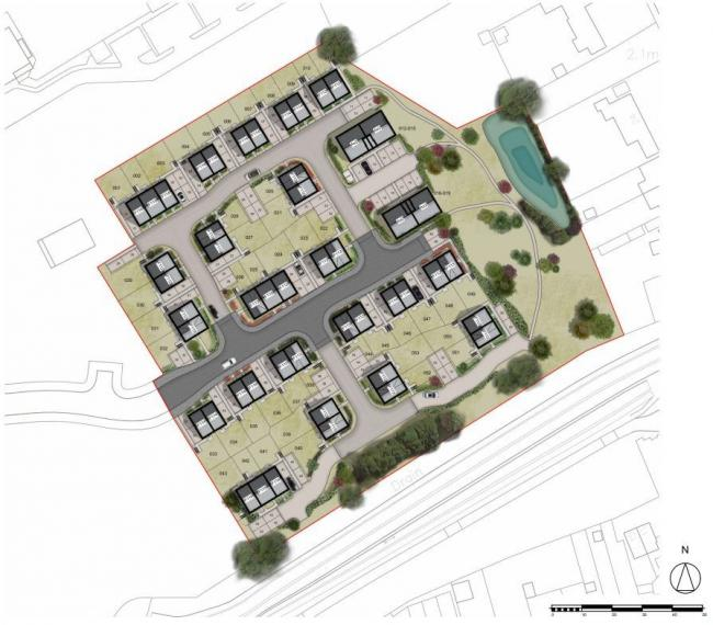 Plans - blueprints for 53 homes at the former Martello Caravan Park site off Kirby Road, Walton