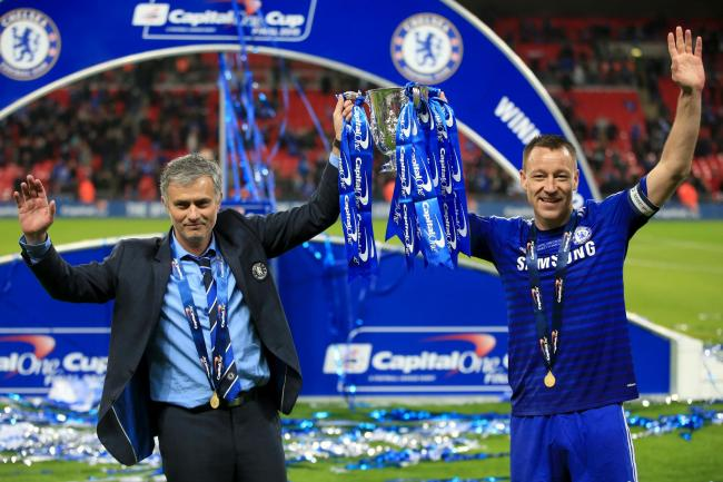 Aston Villa assistant head coach John Terry (right) last won the league cup with Chelsea in 2015