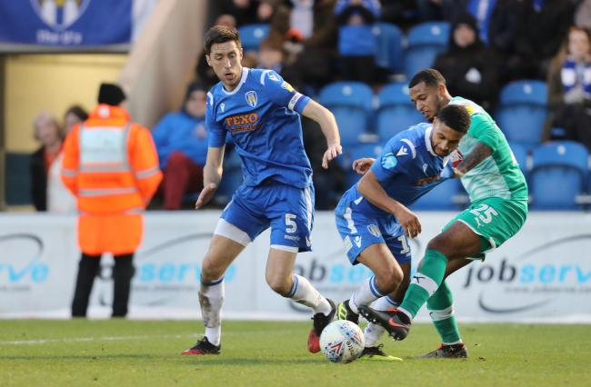 Development - Colchester United duo Brandon Comley and Luke Prosser are both set to see their existing contracts expire, this summer Picture: STEVE BRADING