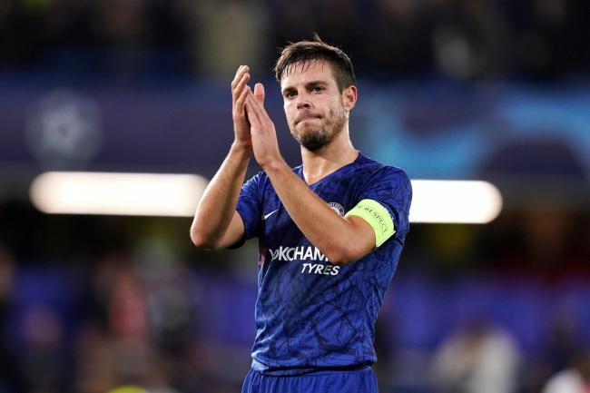 Chelsea captain Cesar Azpilicueta applauds the fans. Blues fans have raised money for charity