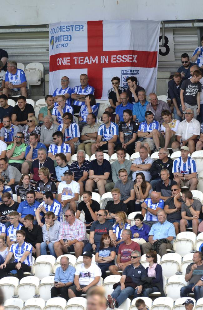 Stand and deliver - Colchester United's fans will get the chance to have cut-outs of their faces at the JobServe Community Stadium