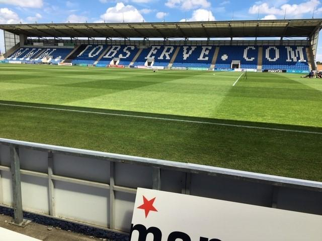Pitch perfect - Colchester United's JobServe Community Stadium pitch is looking in good shape ahead of their game against Exeter City