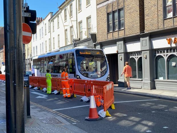 Stewards direct drivers not to use Colchester High Street