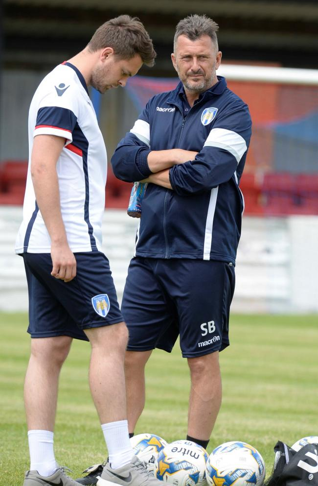 In the running - Steve Ball (right, with U's Head of Recruitment Analysis Michael Still) is currently favourite to take over at Colchester United Picture: STEVE BRADING
