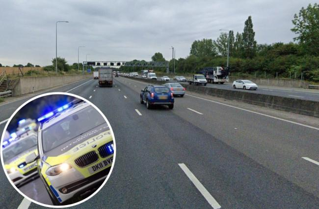 The crash happened between junction 27 and 28 of the M25