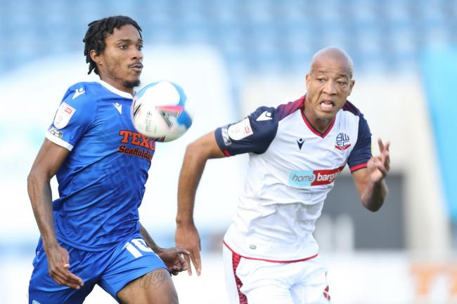 Fine display - Colchester United goalscorer Jevani Brown in action against Bolton Wanderers Picture: STEVE BRADING