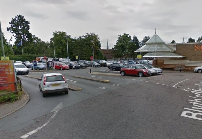 The incident happened in Sainsbury's car park in Braintree