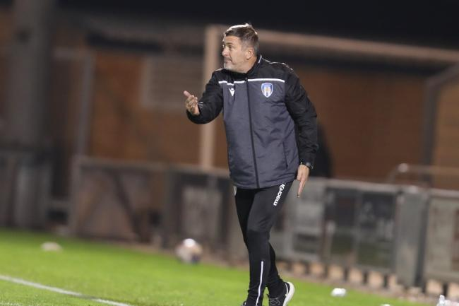 Objective - Colchester United head coach Steve Ball is hoping to see his side chalk up a first away win of the season tonight Picture: STEVE BRADING