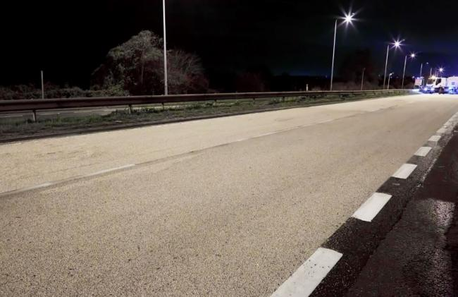 A completed section of the resurfaced A12