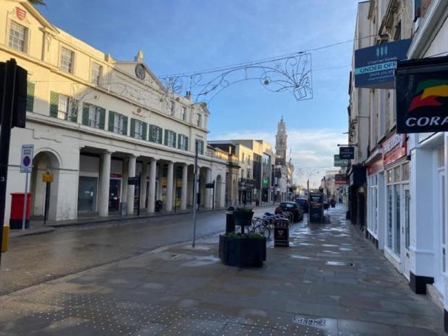 Eerily quiet - Colchester High Street
