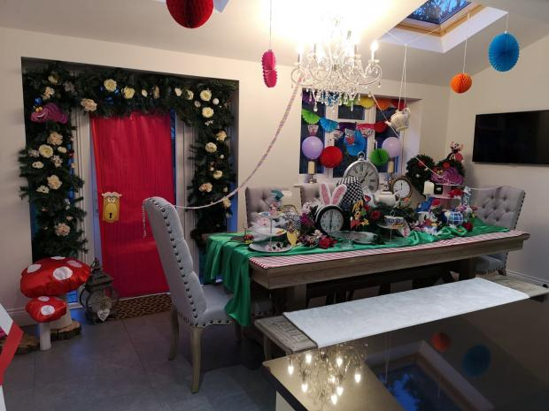 Chelmsford Weekly News: The decorated dining room
