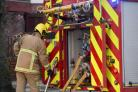 Derelict building near pub completely destroyed during fire