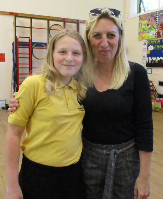 Chelmsford Weekly News: Inspirational - Emma Thrower and daughter Mollie. It was taken when Mrs Thrower helped her daughter organise a tea at Ardleigh St Marys Primary School