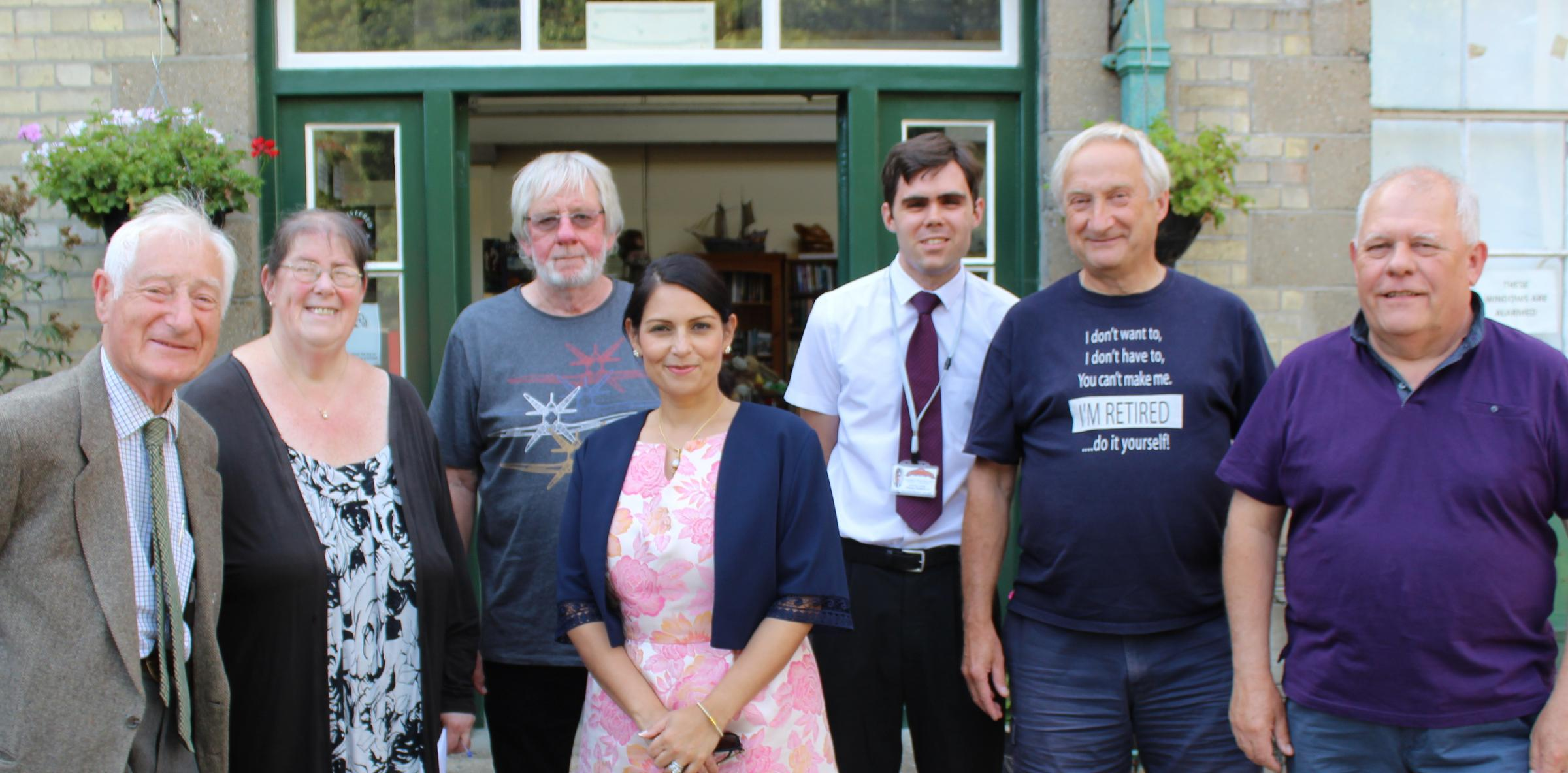 MUSEUM SUPPORTER: Priti Patel's last visit to the Museum of Power in August 2019