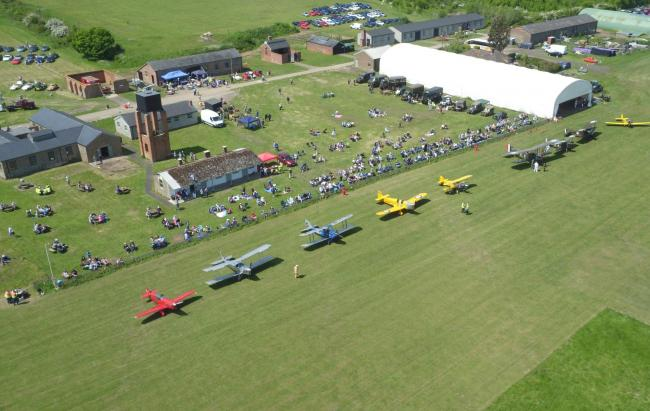 EYE IN THE SKY: An aerial view of Stow Maries Great War Aerodrome during an event in 2018