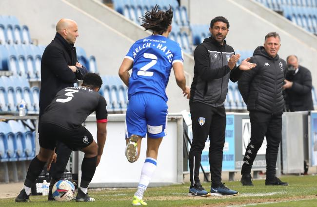 Calming influence - Colchester United interim head coach Hayden Mullins has led his side to League Two survival Picture: STEVE BRADING