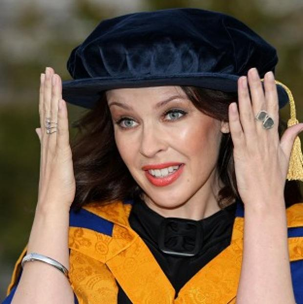Kylie gets honorary doctorate from Chelmsford's Anglia Ruskin University