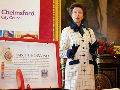 The Princess Royal at the city status reception