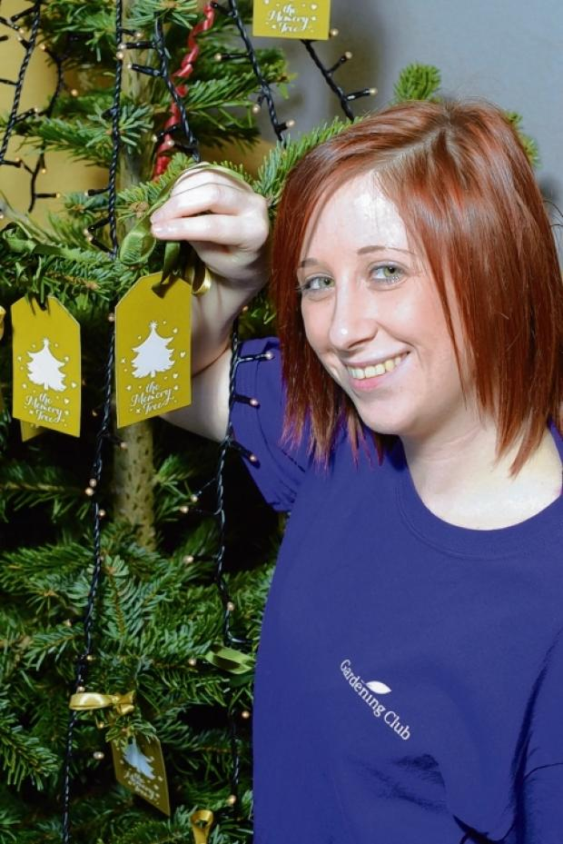 Chelmsford Weekly News: Holly Marshfield with the tree