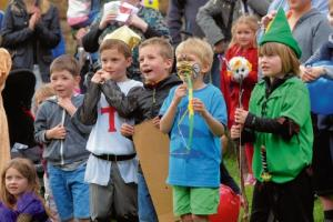 KIDS ENJOY MEDIEVAL FAIR AT CHURCH