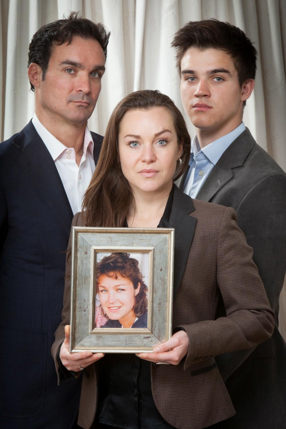 The family of Maria Stubbings, Manuel Fernandez with Celia Peachey and Benji Stubbings