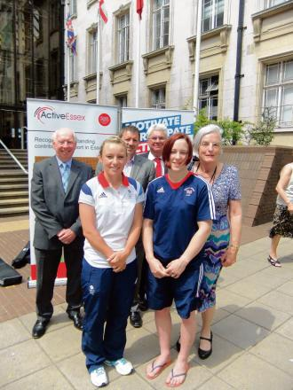 Derek Jarvis, Southend Council, Gary Sullivan OBE, chairman of Active Essex, Graham Tombs, Essex Athletes Trust, Chloe Rogers, Faith Pitman, and Essex County councillor Ann Naylor
