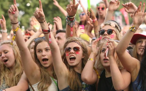 Crowds at V Festival always have a smile on their face