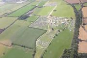 Brownstock festival from the air, taken by the Essex Police helicopter