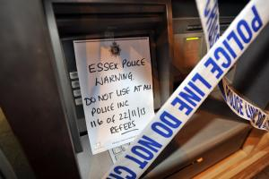 Cash points taped off over scam fears