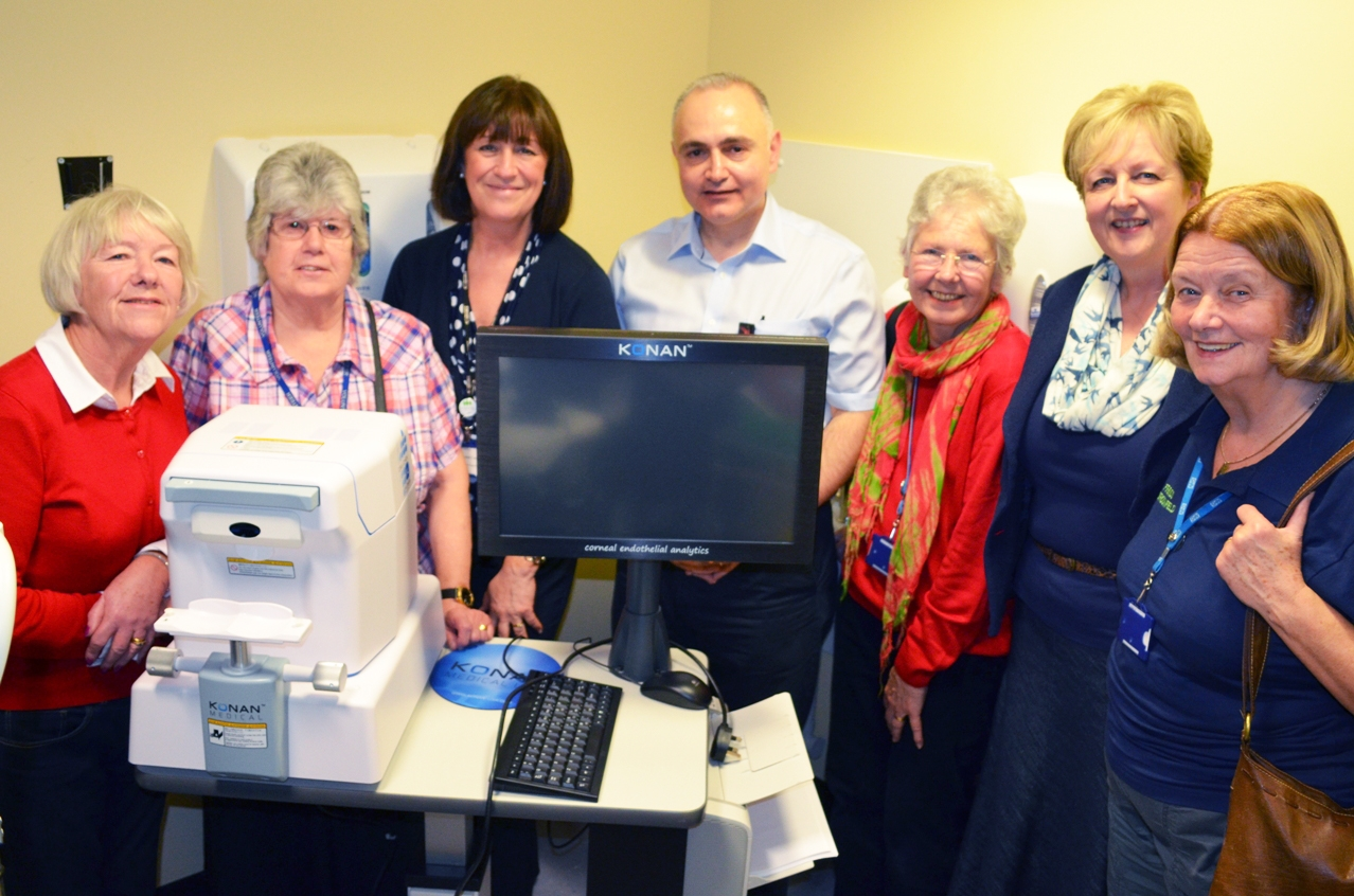 Hospital staff and volunteers from Friends at Broomfield Hospital with the equipment