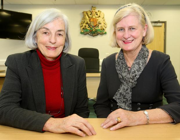 Ann Naylor (left), Essex county councillor responsible for public health and wellbeing, with senior coroner for Essex Caroline Beasley-Murray inside the new coroner's court