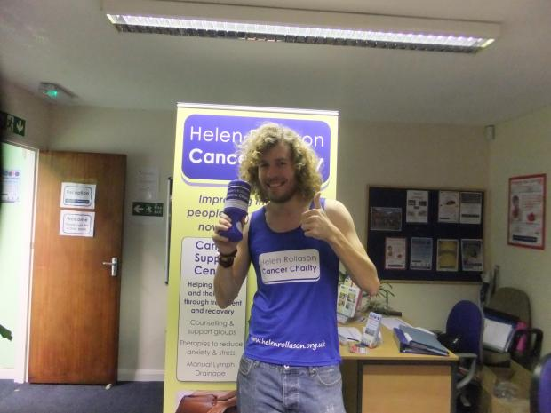 Weekly News reporter George Thorpe who is running the London Marathon for Helen Rollason Cancer Charity