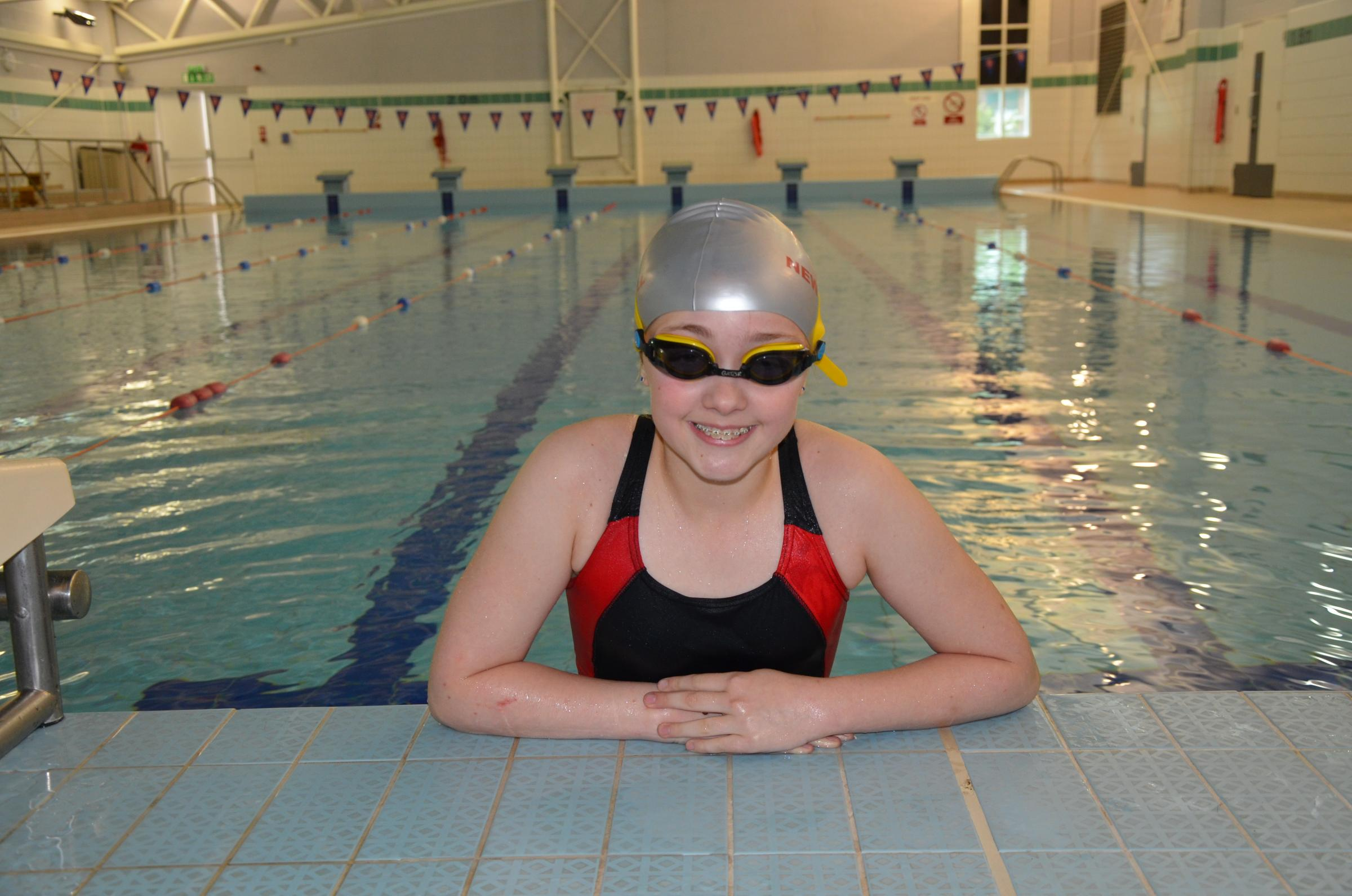 Charley Spriggs in her swimming gear