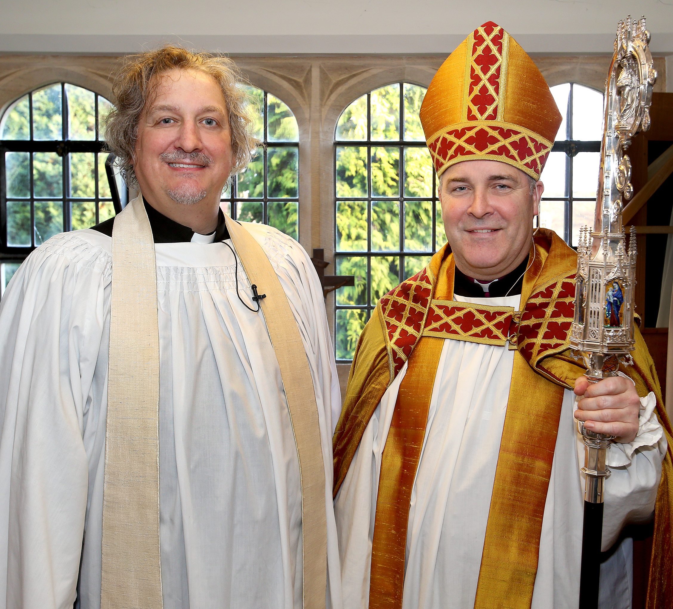 The Dean of Chelmsford, Nicholas Henshall and the Bishop of Chelmsford, Stephen Cottrell