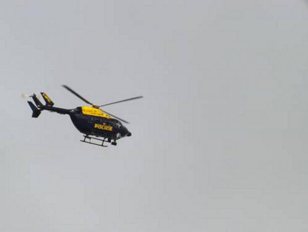 Burglars manage to evade arrest after helicopter sent up to track them