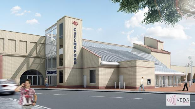 How the outside of Chelmsford station will look after all work is completed