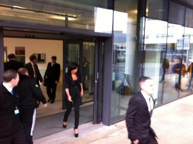 Chelmsford Weekly News: Tulisa Conotostavlos at Chelmsford Magistrates' Court this morning