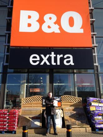 Andrew Wright outside the B&Q store in Springfield